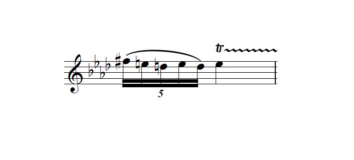 トリルの前の音の臨時記号