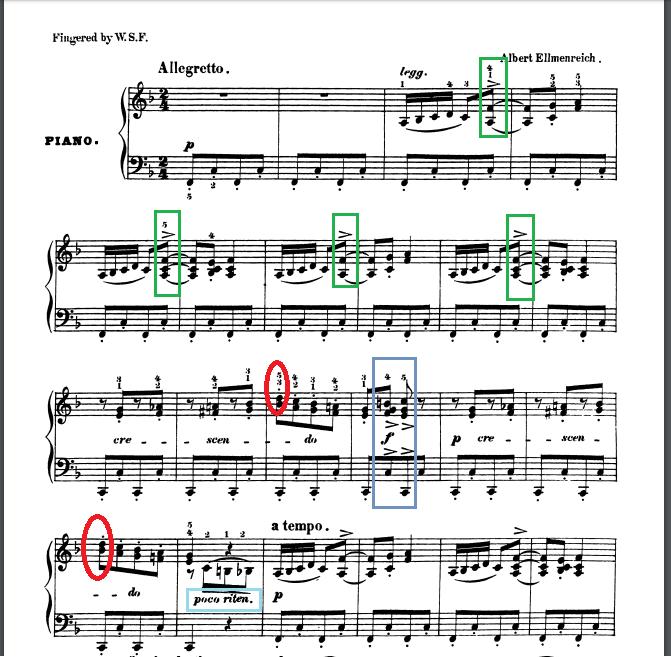 紡ぎ歌の楽譜とポイント