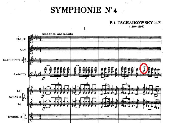 チャイコフスキー交響曲第四番冒頭