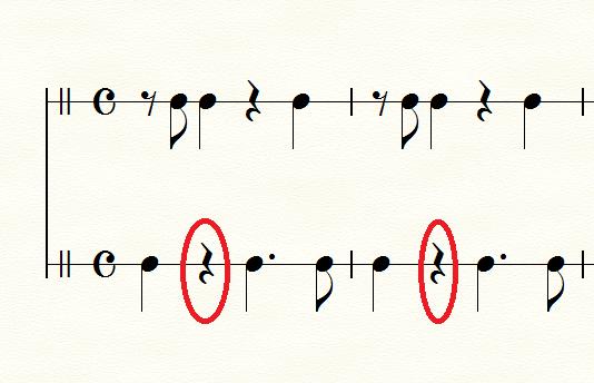 航海の伴奏リズム