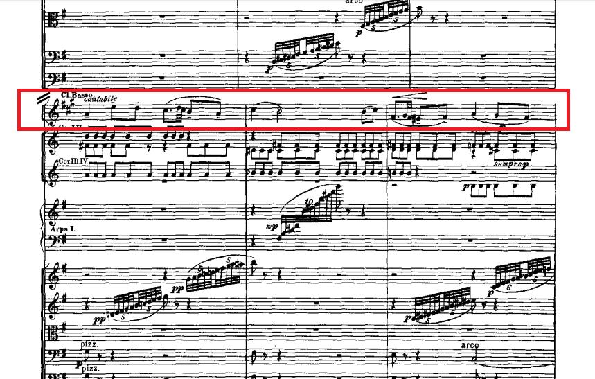パ・ド・ドゥのバスクラリネットの旋律
