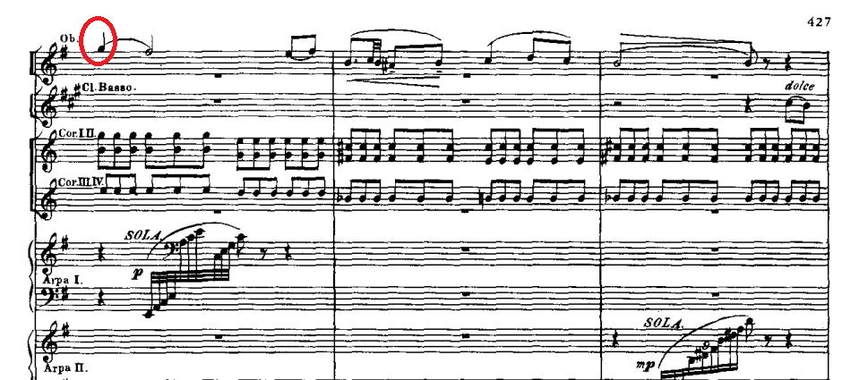 パ・ド・ドゥのオーボエの旋律
