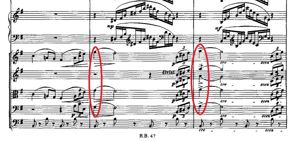 パ・ド・ドゥの倚音の例3