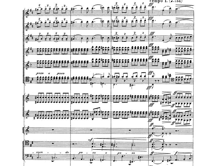 チャイコフスキー 交響曲第五番 第二楽章の一部