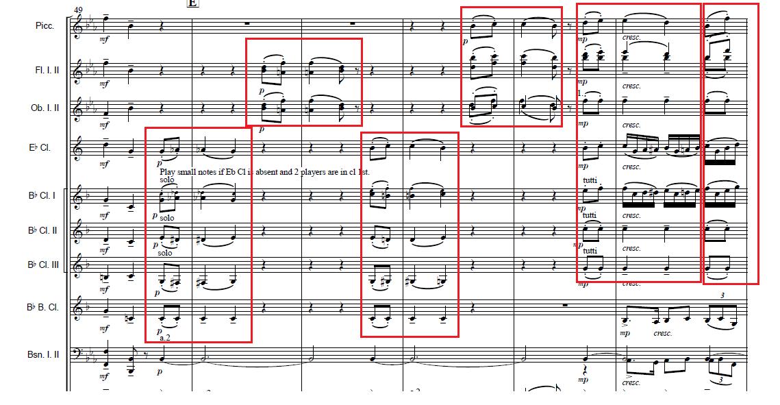 第二主題へのブリッジに出てくる序奏の動機