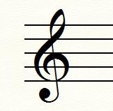 ト音記号(トレブルクレフ)
