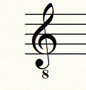 ト音記号(低音)