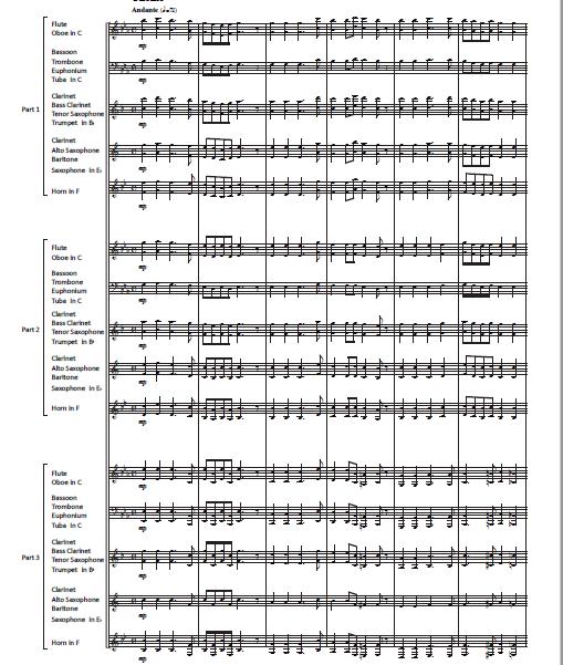 小さな変奏曲 1ページ目