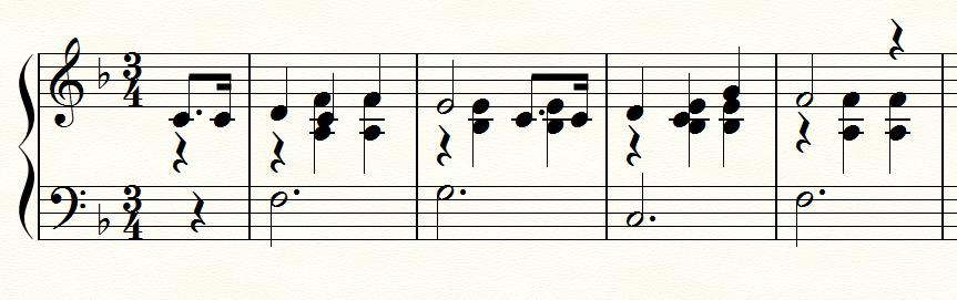 伴奏と旋律の交差