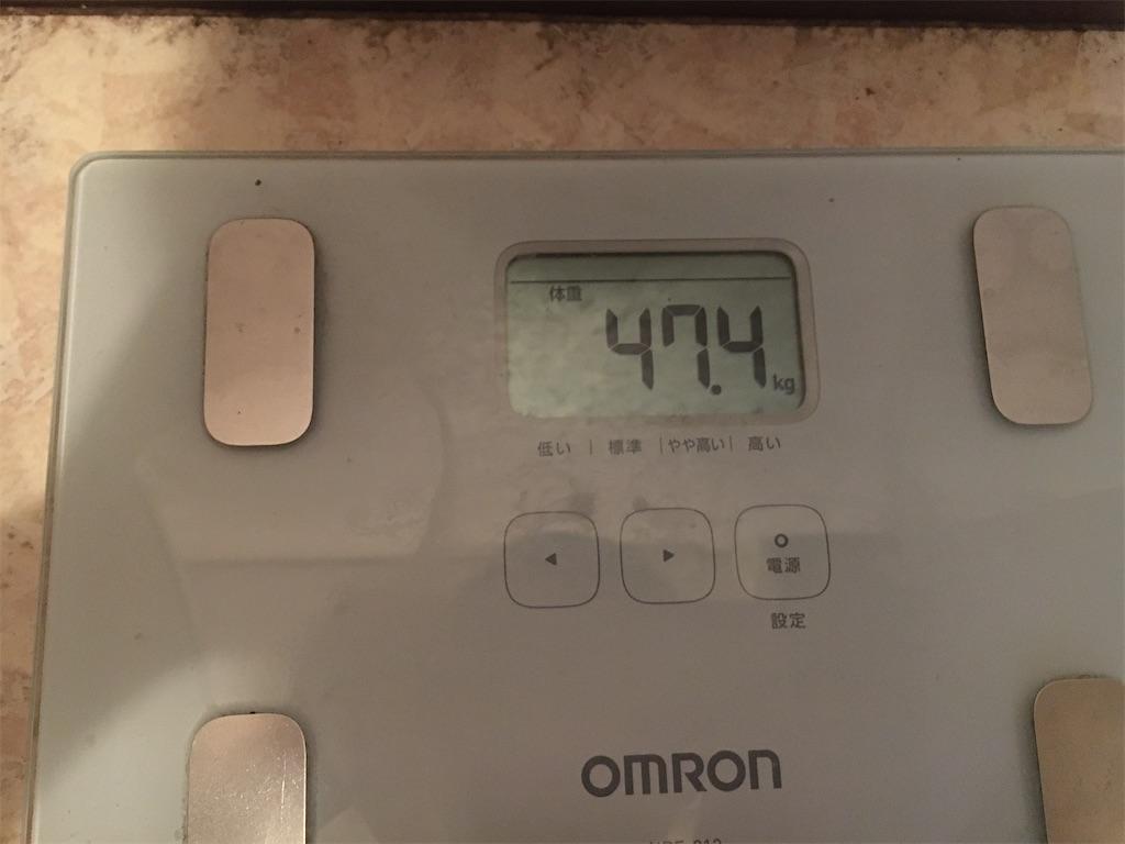 現在の体重47kg