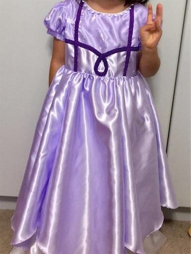 手作りのプリンセスソフィア風ドレス