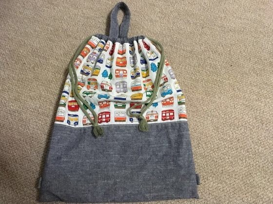 初期ハンドメイド記録、着替え袋