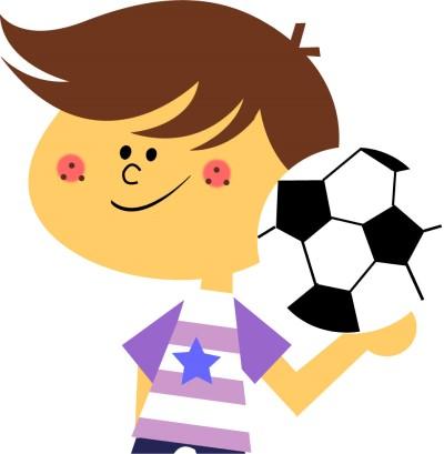 サッカーにはまる6歳