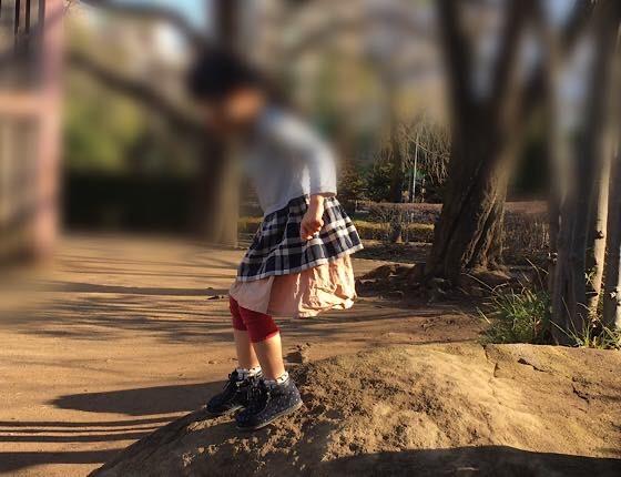 岩登りもオススメの公園遊び