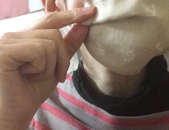 平面マスクにプリーツを作る