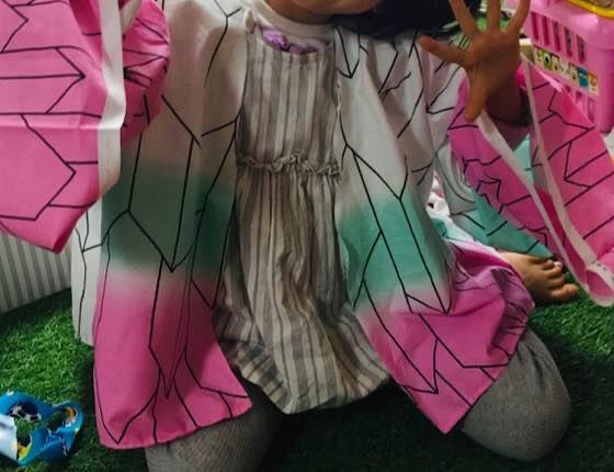 胡蝶しのぶの羽織着画