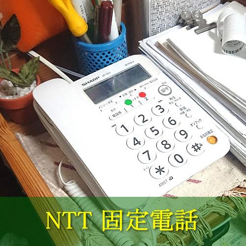 自宅、NTT固定電話