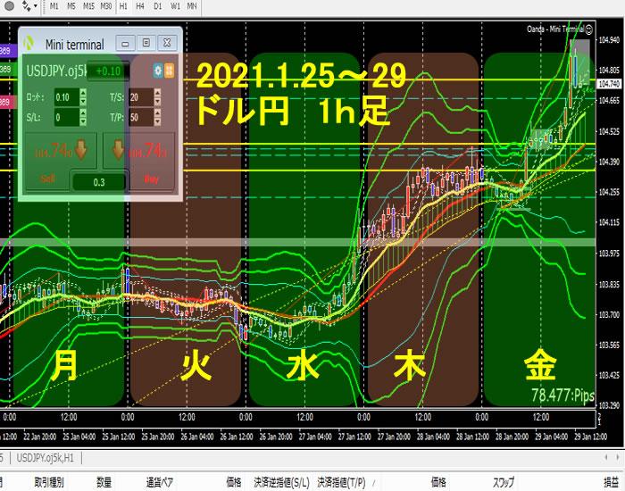 2021年1月25~29日、FX ドル円 まとめ