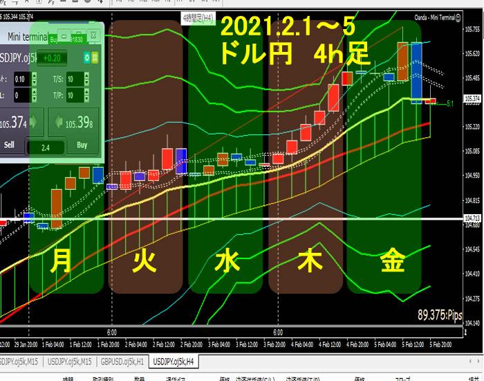 2021年2月1~5日、FX ドル円 まとめ