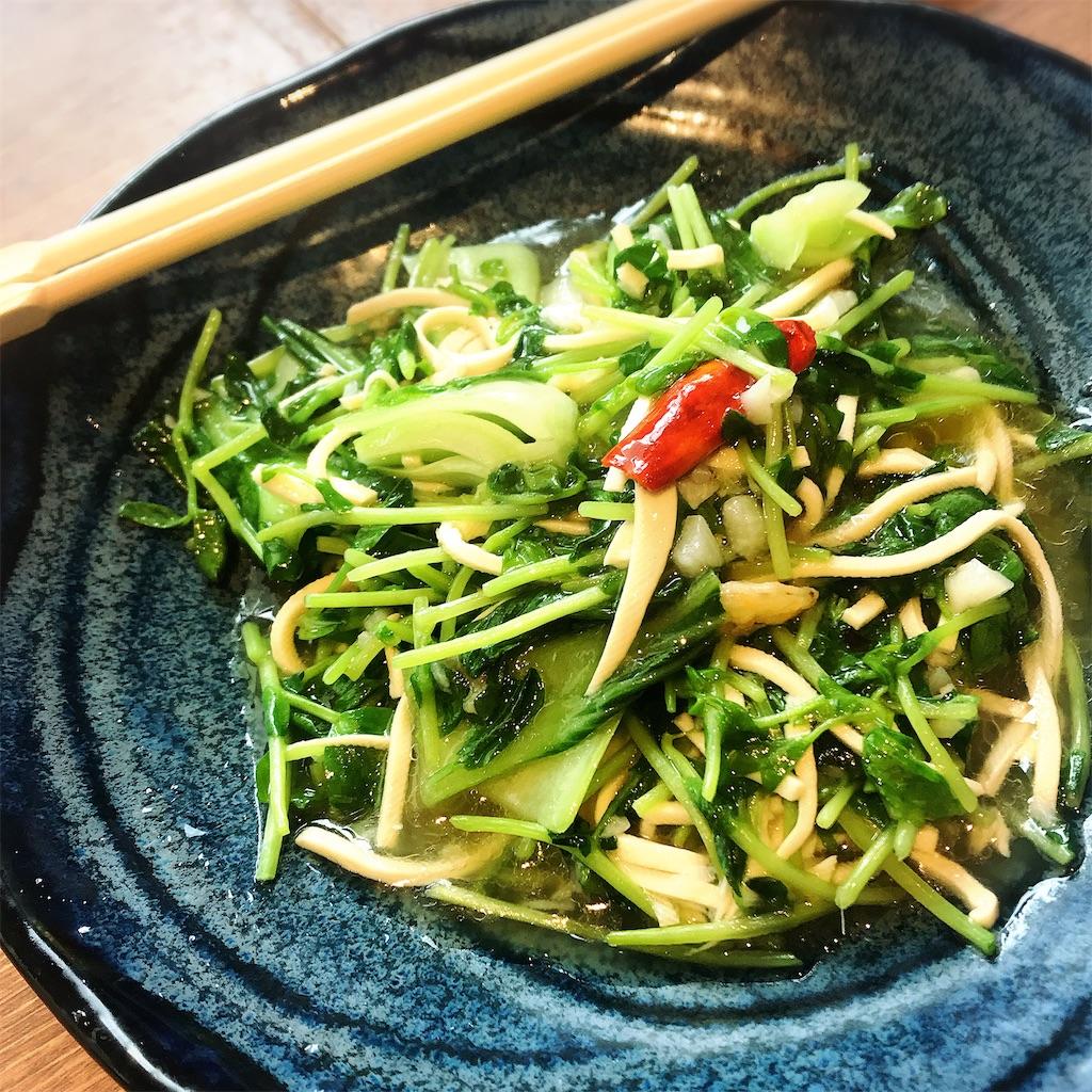 季節野菜のガーリック炒め
