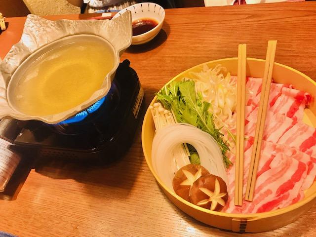 選べる鍋(うに豚しゃぶ)