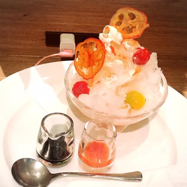 秋田県産 トマト×バルサミコのかき氷