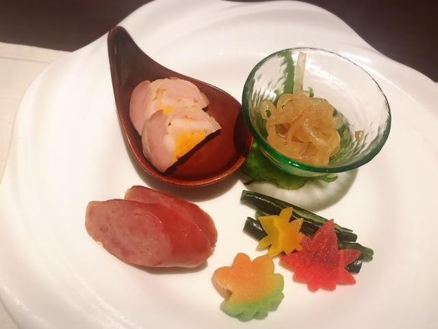 京王プラザホテル「南園」前菜の盛り合わせ