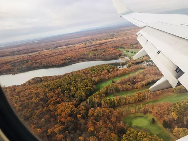 上空から秋を感じられたフライトでした