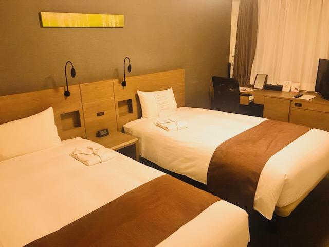 スマイルホテルプレミアム札幌すすきの スタンダードツインの客室