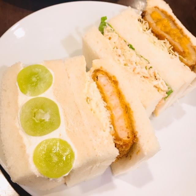 4種類のサンドイッチが2日目の朝ごはん