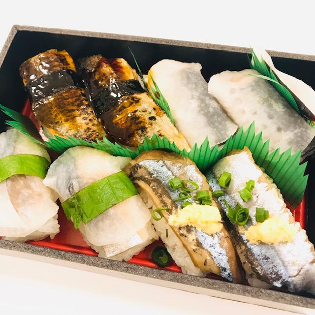 づけ炙り秋刀魚の甘辛にぎりといわしのほっかぶりずし詰め合わせ