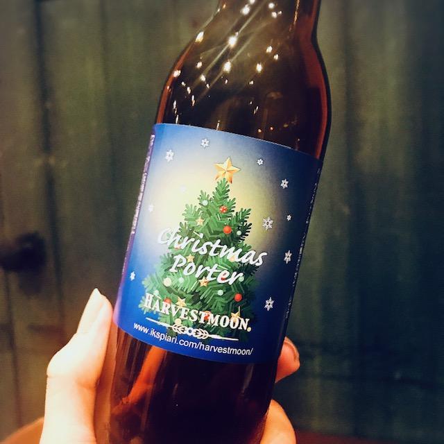 ラベルもクリスマス仕様で可愛い「クリスマス・ポーター」
