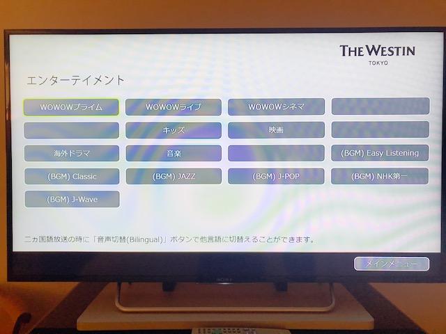 テレビではWOWOWなどの有料チャンネルも