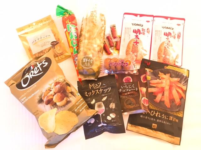 恵比寿駅付近で購入した食品類