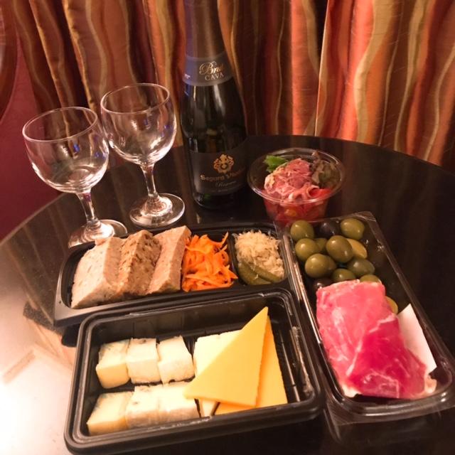冷菜系とスパークリングワイン