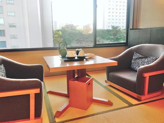 高輪 花香路:和室B「雪柳」の客室からの眺望