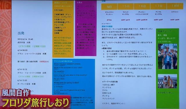 「櫻井・有吉THE夜会」で披露されたWDW旅行のしおり