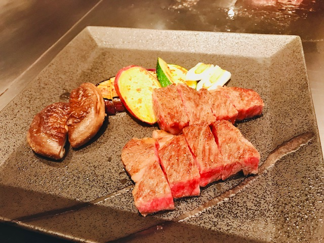 黒毛和牛ロース(120g)と焼き野菜