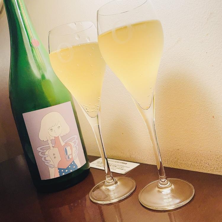 乾杯は長野県産のリンゴを使ったシードルで