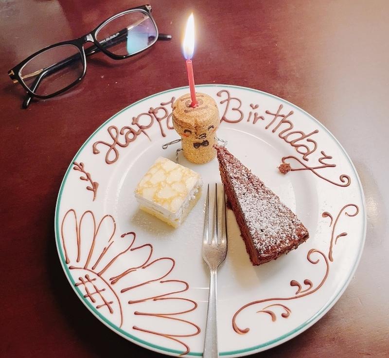 本日のデザート(お誕生日仕様)