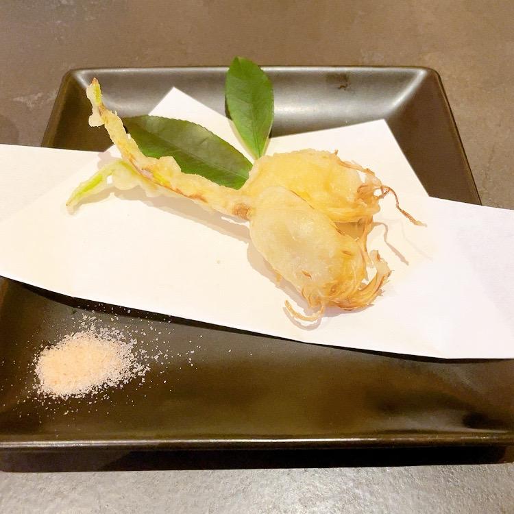 サッポロ生ビール黒ラベル THE BAR「水素水にんにくの天ぷら」