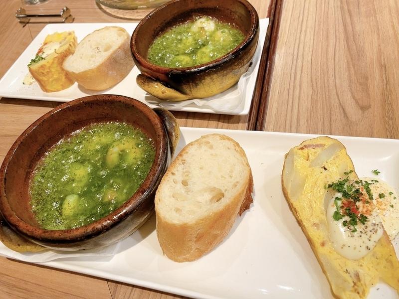 「Ber de Espana VIRGO」ランチコースの前菜と温菜