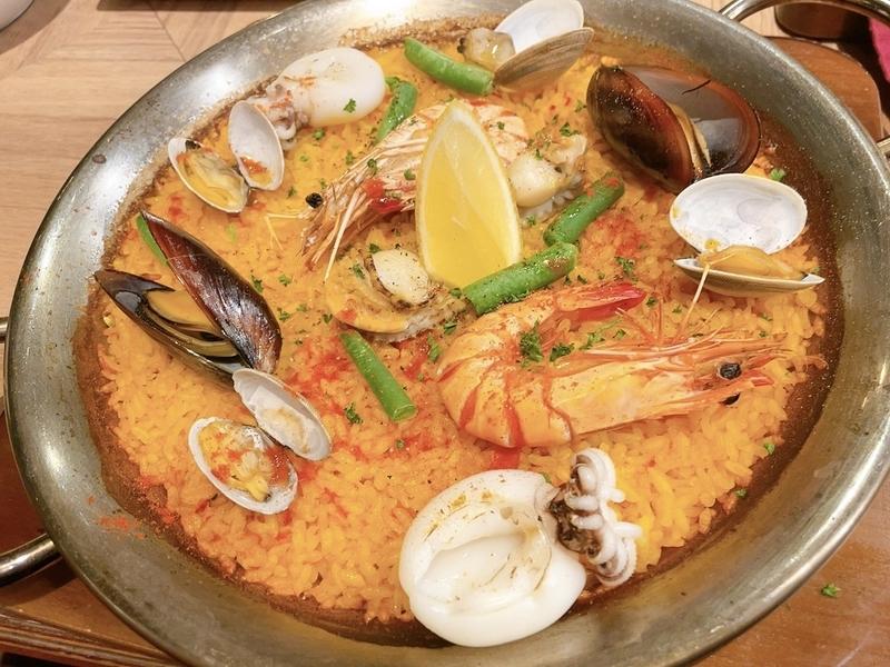 「Ber de Espana VIRGO」ランチコースの漁師風 魚介のパエリア