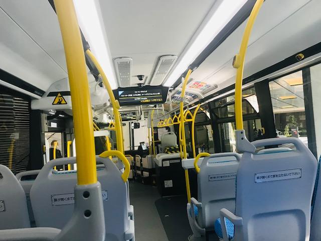 JR竹芝 水素シャトルバスの車内