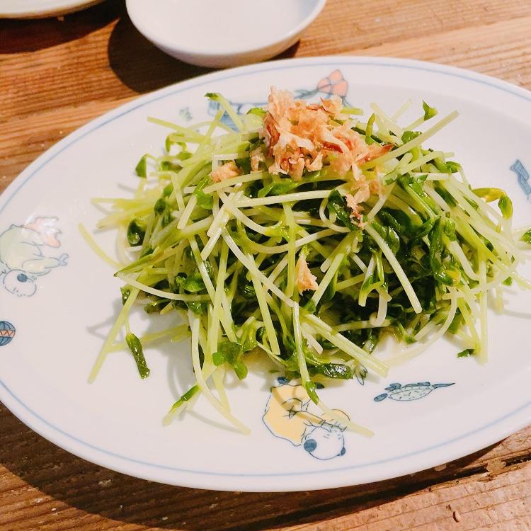 白山「鶯嶁荘 also」旬の青菜炒め