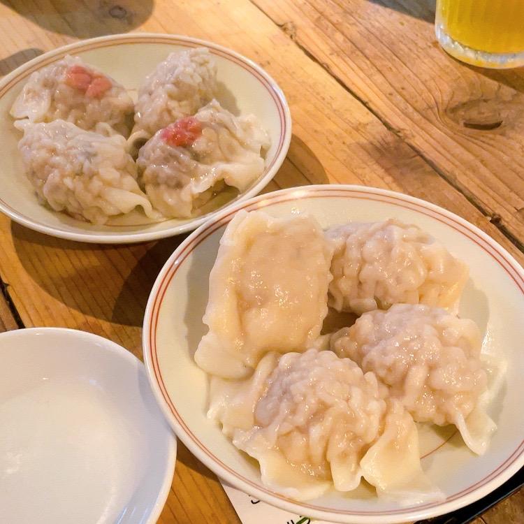 白山「鶯嶁荘 also」台湾ワンタン 旬きのこ/豚肉