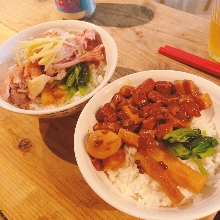 白山「鶯嶁荘 also」鶏肉飯/魯肉飯