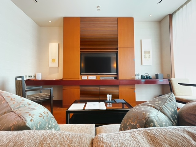 ザ・ペニンシュラ東京 デラックスツイン:ソファーからの眺め