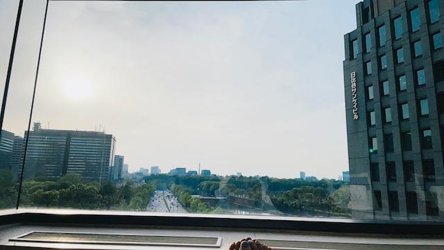 ザ・ペニンシュラ東京 プールサイドからの眺望