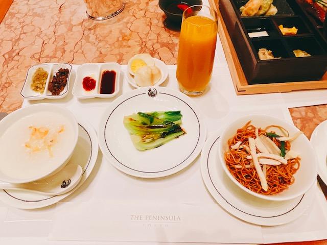 ザ・ペニンシュラ ブレックファスト「中華粥と点心の朝食」